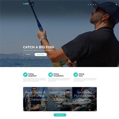 BigFish - Fishing Website Template #61390