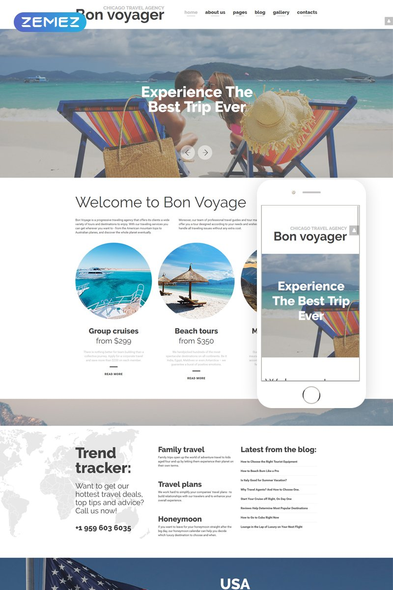 Bon Voyage - Travel Agency & Vacation planning Responsive Joomla Template