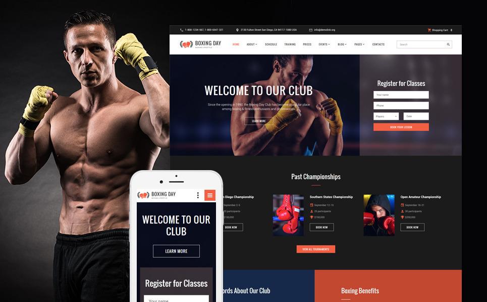 HTML шаблон на тему бокса