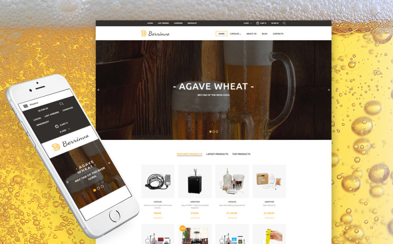 Brewery Responsive VirtueMart Template New Screenshots BIG