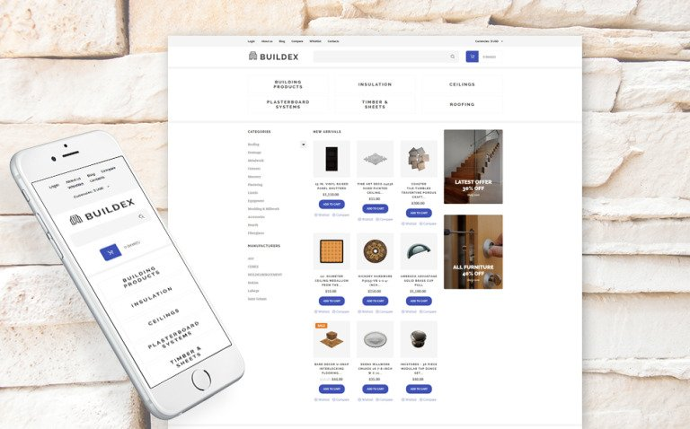 Building Materials Responsive VirtueMart Template New Screenshots BIG