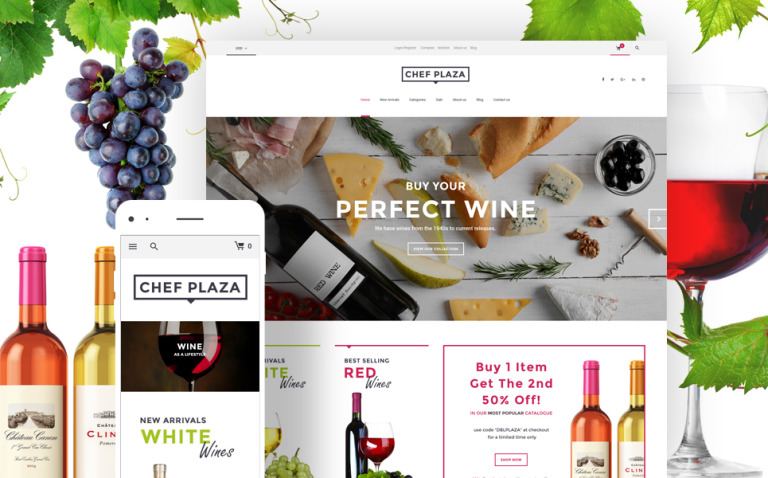Chef Plaza Food And Wine Store WooCommerce Theme New Screenshots BIG