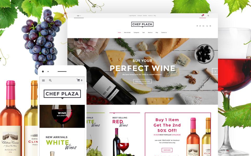 Woocommerce шаблон для винного магазина