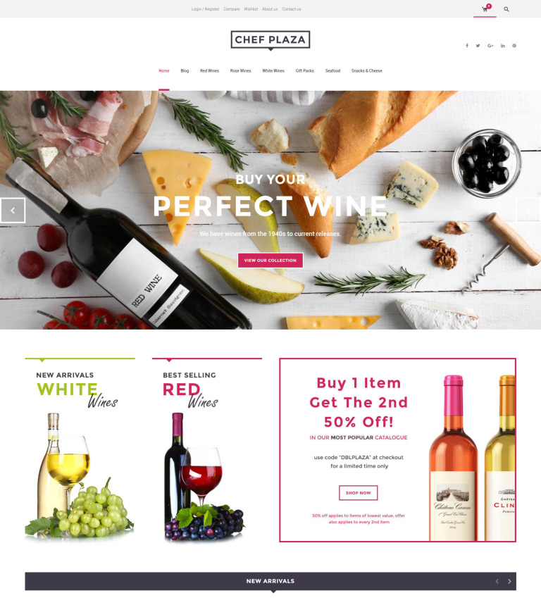 Chef Plaza Food And Wine Woocommerce Theme New Screenshots