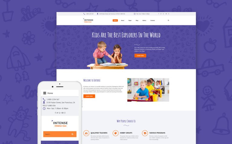 Children Care Responsive Joomla Template New Screenshots BIG