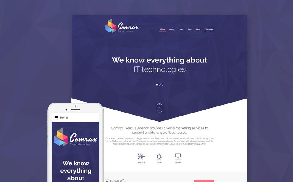 Comrax - IT Consulting Joomla Template New Screenshots BIG