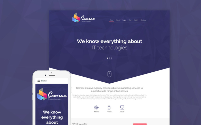 Comrax - IT Consulting Joomla Template New Screenshots BIG