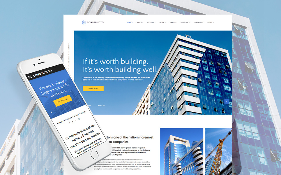 Constructo - Architecture & Construction Company Responsive Website Template New Screenshots BIG