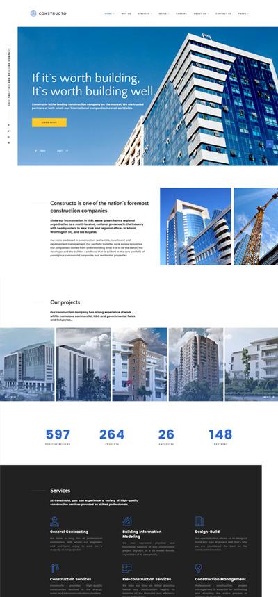 Constructor Website Template