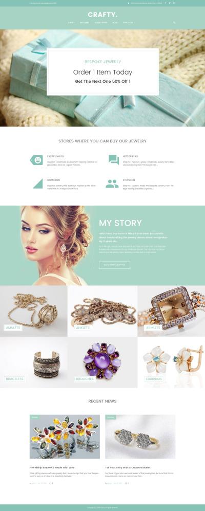 Thème WordPress adaptatif  pour site de bijoux