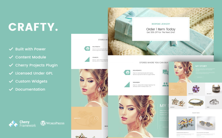 Crafty - Handmade Jewelry Artist WordPress Theme New Screenshots BIG