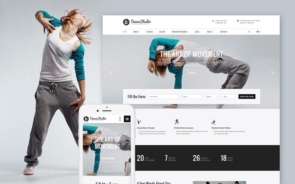 dancestudio-dance-coach-responsive-website-template