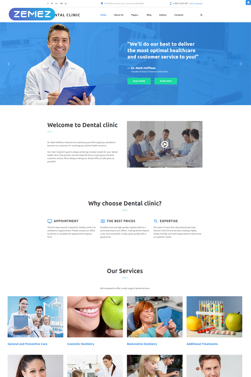 Dentistry Clinic Joomla Template