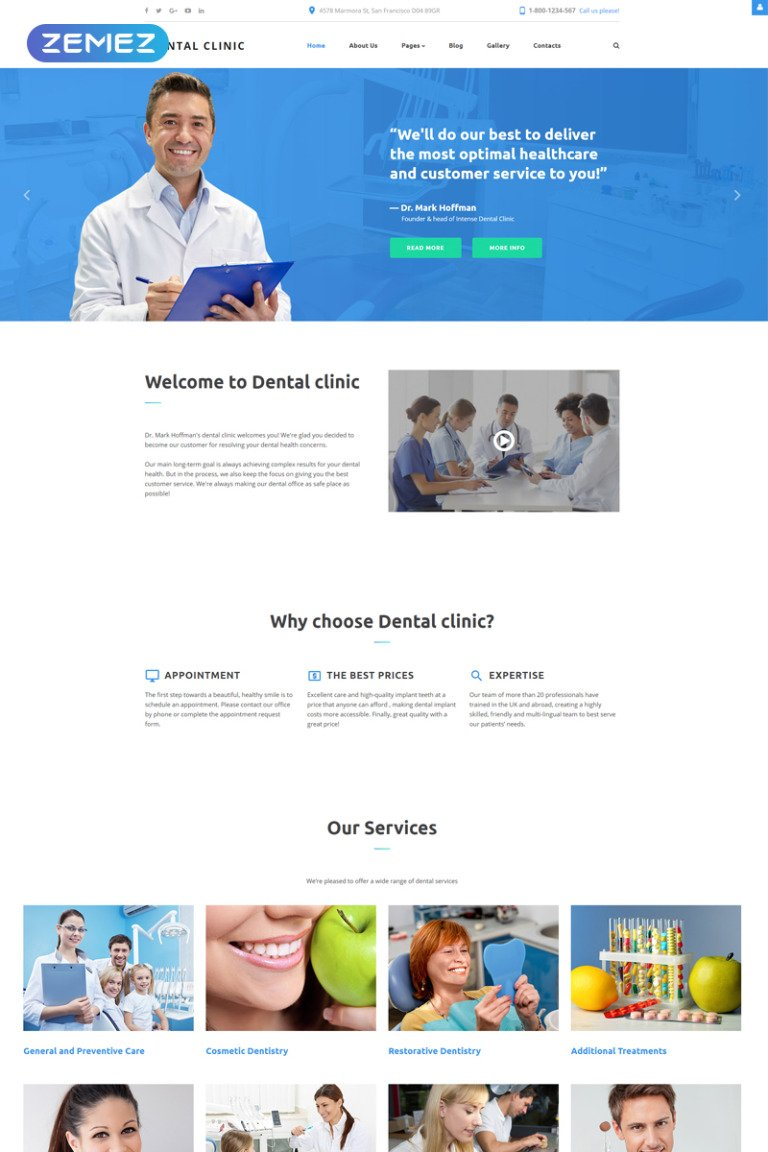 Dental Clinic - Dentistry Responsive Joomla Template New Screenshots BIG