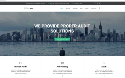 Easy Audit - Multipage Consulting Website Template #61349