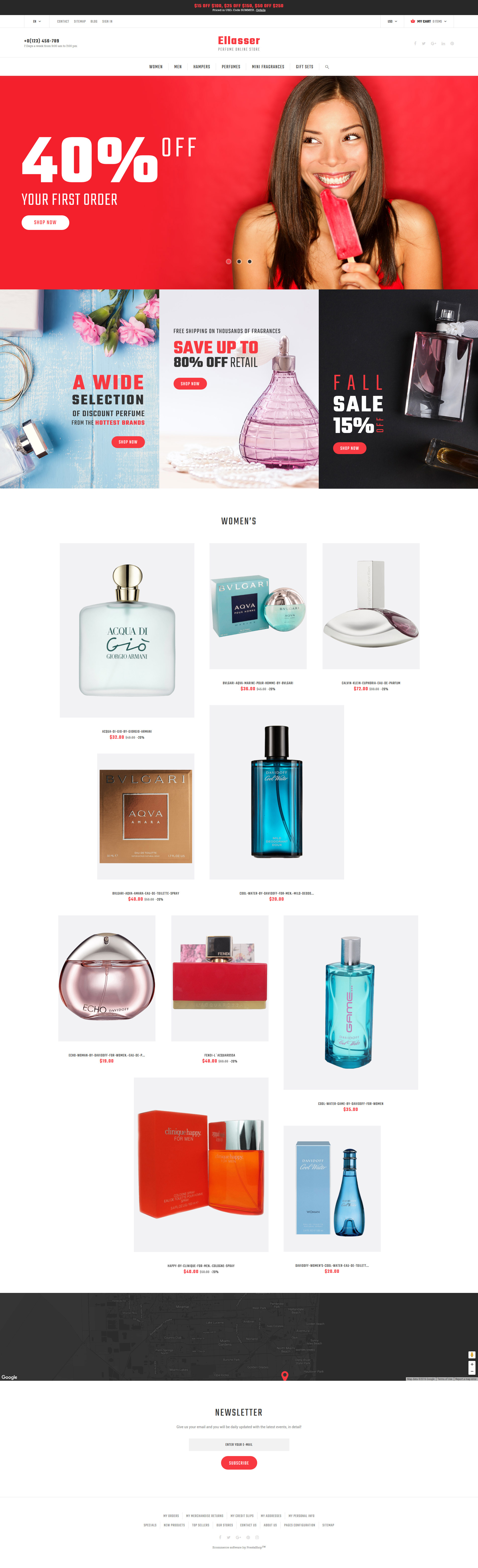 Ellasser - Perfume Online Store PrestaShop Theme