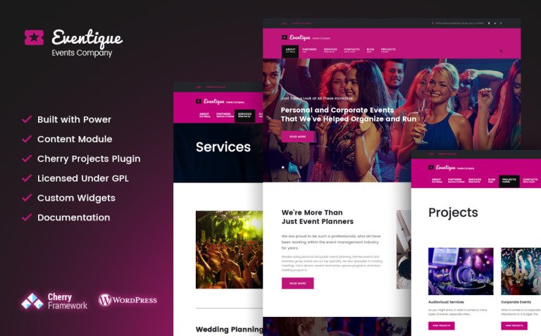 Eventique - events company WordPress Theme New Screenshots BIG