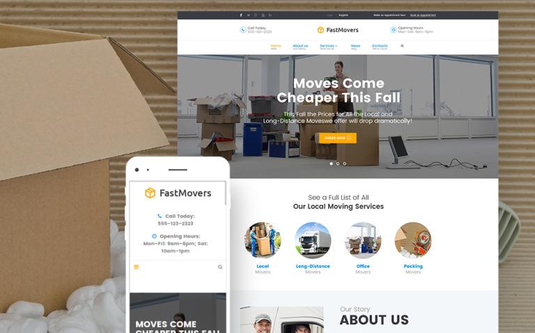 Fast Moving - Transportation & Moving Services WordPress Theme New Screenshots BIG