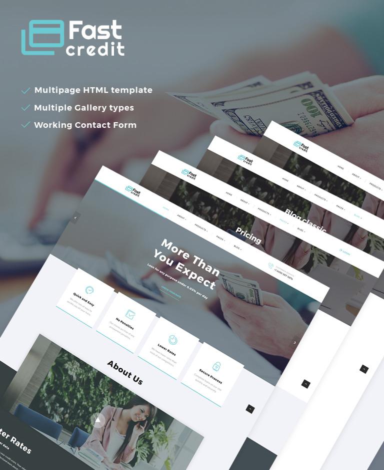 FastCredit - Mortgage Solutions Multipage Website Template Big Screenshot
