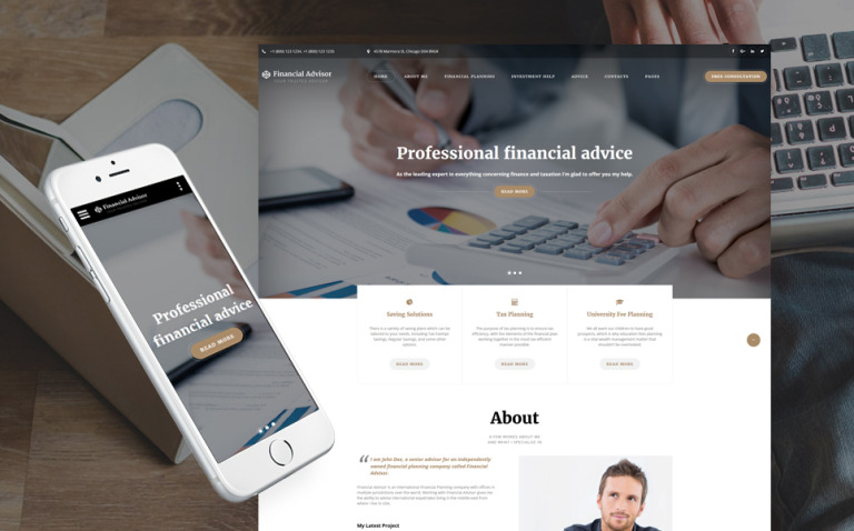 Financial Advisor Multipage Website Template New Screenshots BIG