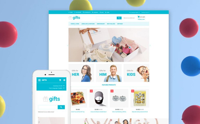 Gifts - Gift Store OpenCart Template New Screenshots BIG