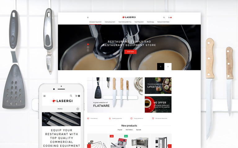 Glasergi - Cookware & Appliances PrestaShop Theme New Screenshots BIG