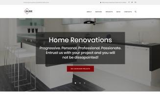 Glide - Home, Bath and Kitchen Renovation Company WordPress Theme
