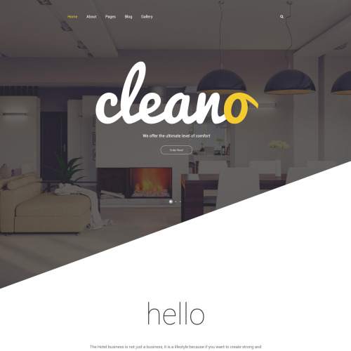 Cleano - Hotel Booking Template based on Bootstrap