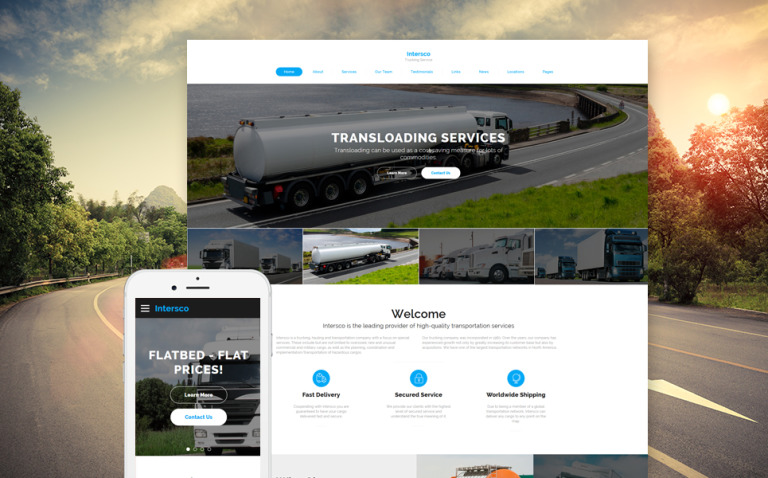 Intersco - Logistic & Transportation Website Template New Screenshots BIG