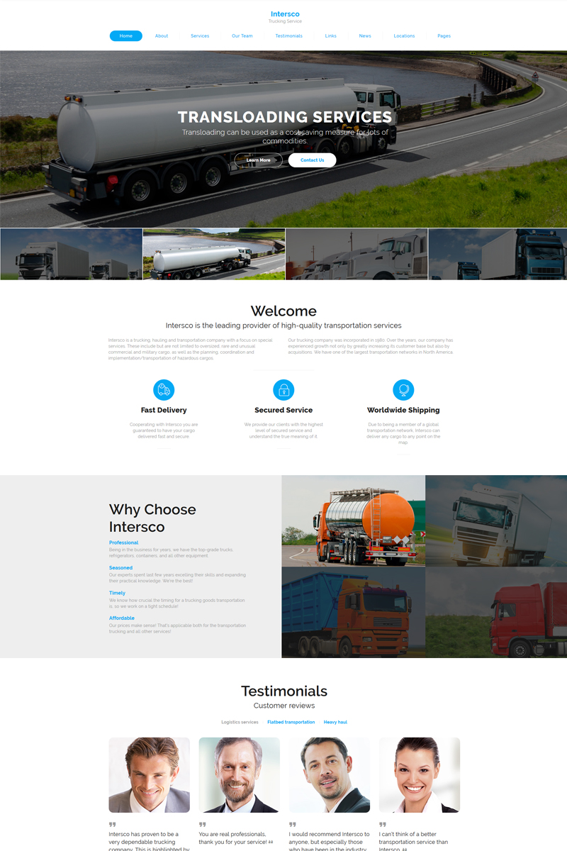 Intersco - Logistic & Transportation Website Template