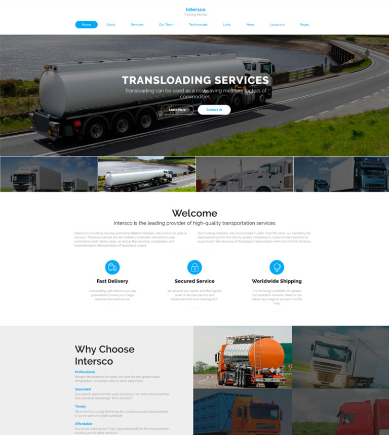 Intersco - Logistic & Transportation Website Template