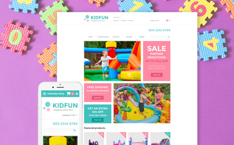 KidFun - Kids Toys & Games Store OpenCart Template New Screenshots BIG
