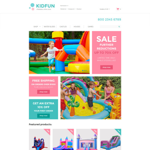 Kidfun  - OpenCart Template based on Bootstrap