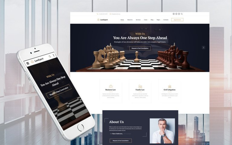 Law Expert - Law Firm Responsive Website Template Big Screenshot