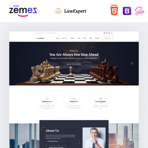 Law Expert  - Law Agency Website Template based on Bootstrap