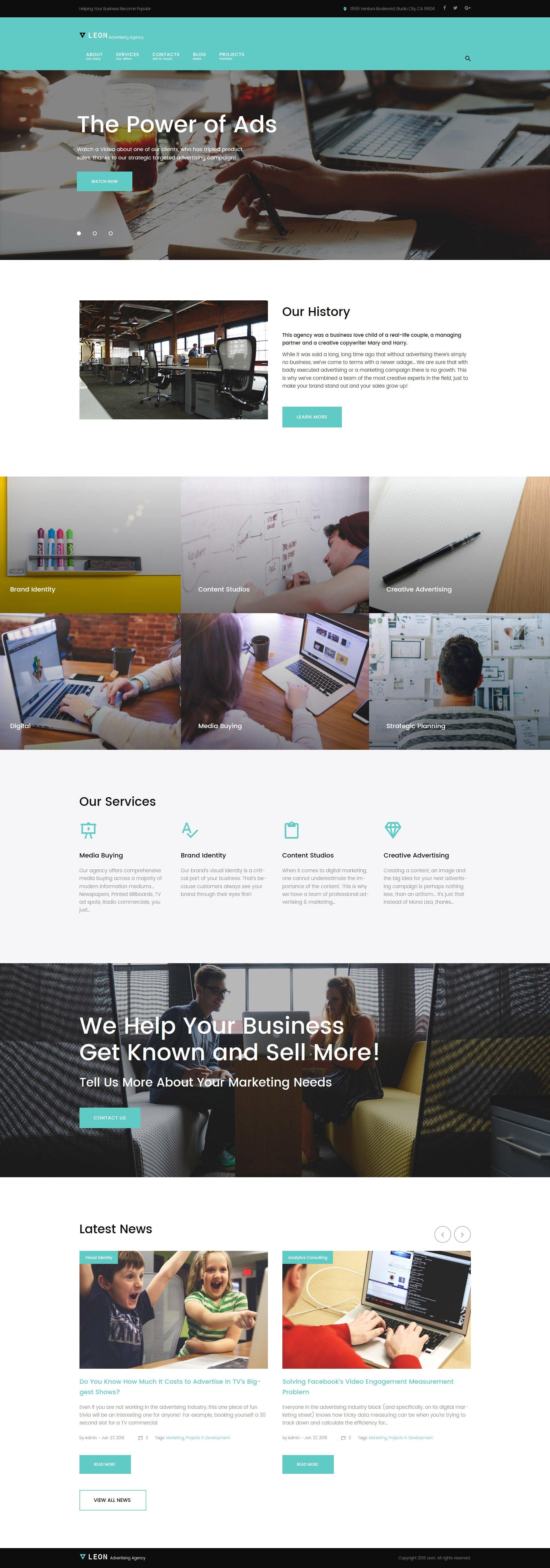 Leon - advertising, marketing and SEO agency WordPress Theme - screenshot