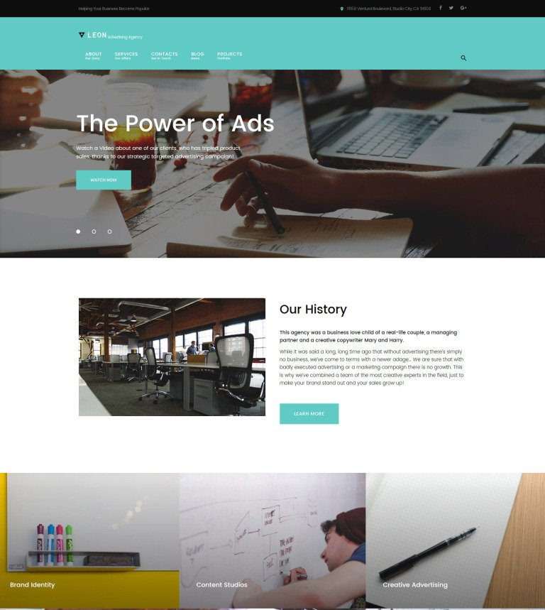 Leon - advertising, marketing and SEO agency WordPress Theme