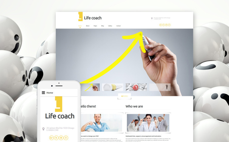 Life Coach Responsive Joomla Template Big Screenshot