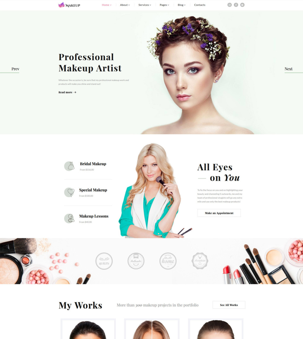 Makeup Artist Cosmetics Responsive