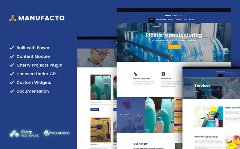Manufacto - Industrial and Manufacturing Company WordPress Theme New Screenshots BIG