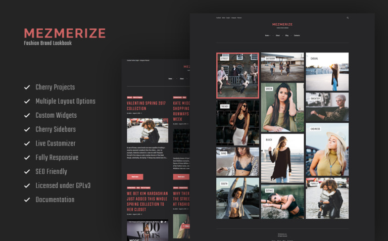 Mezmerize - Fashion Brand Lookbook WordPress Theme New Screenshots BIG