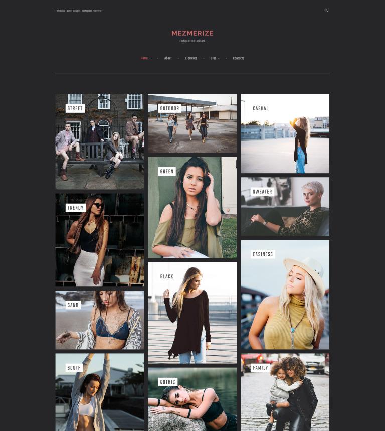 Mezmerize Fashion Brand Lookbook Wordpress Theme