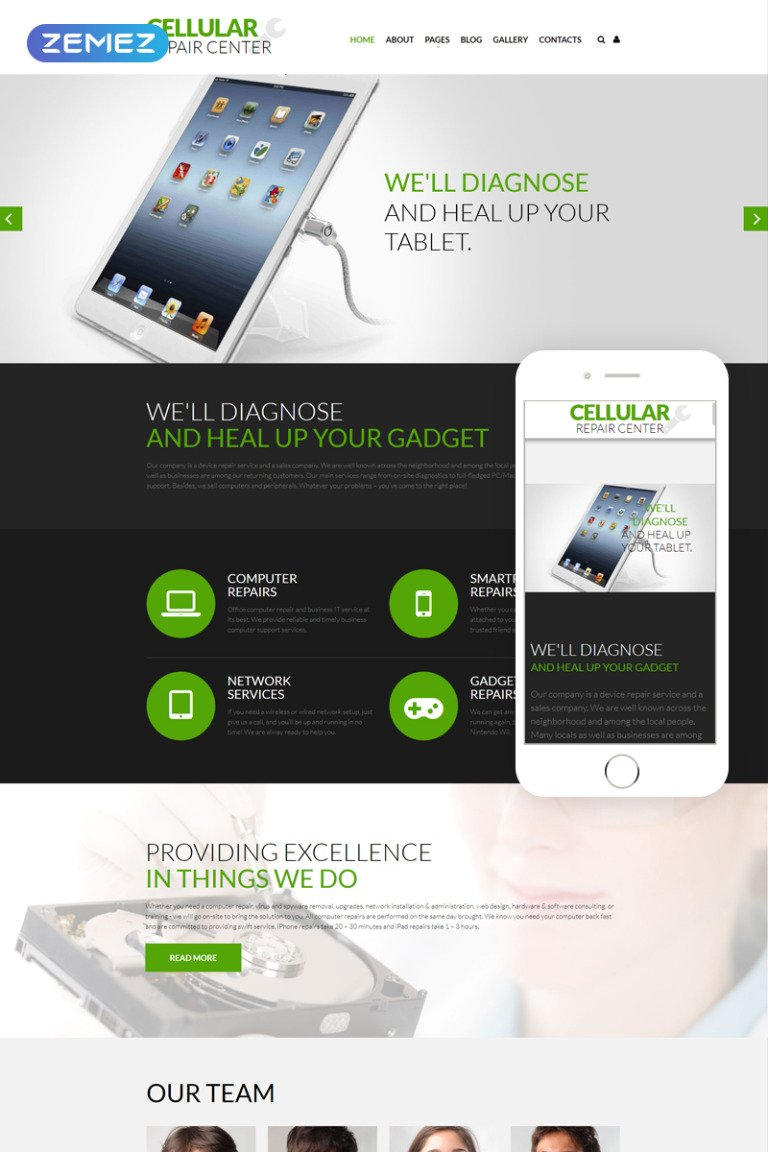 Mobile Repair Service Responsive Joomla Template Big Screenshot