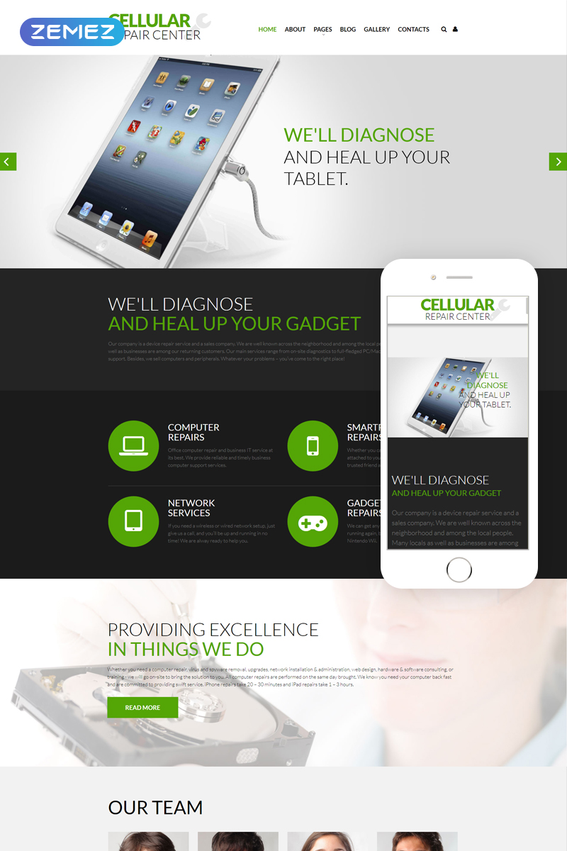 Mobile Repair Service Responsive Joomla Template - screenshot