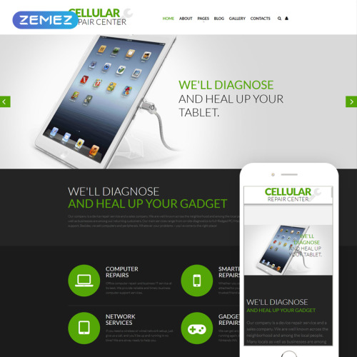 Cellular Repair Service - Joomla! Template based on Bootstrap