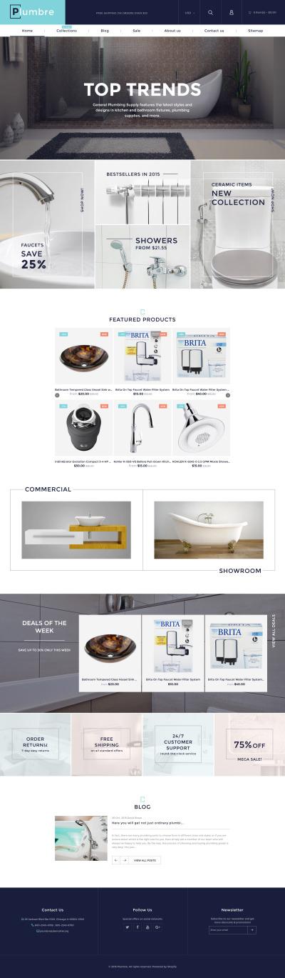 Plumbing Responsive Tema Shopify