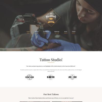 Tattoo Salon Responsive Tema WordPress