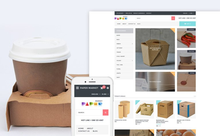 Paper Market - Packaging Responsive OpenCart Template New Screenshots BIG