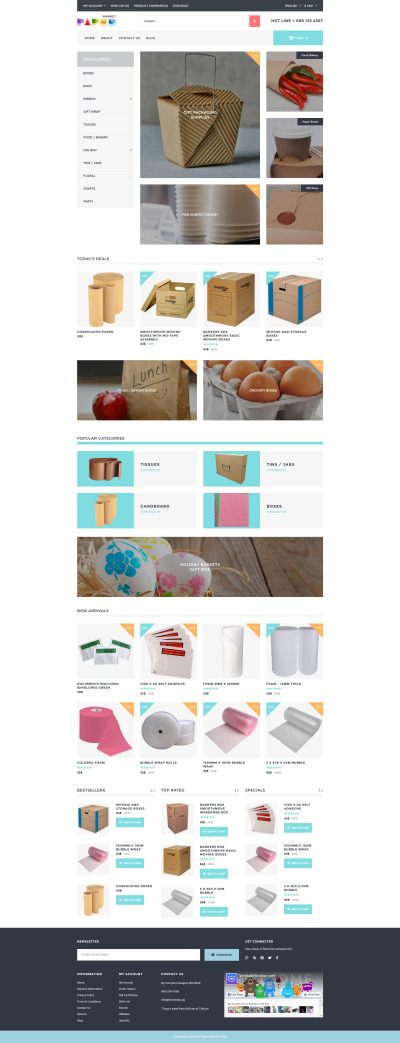 Paper Market - Packaging Responsive OpenCart Template #61307