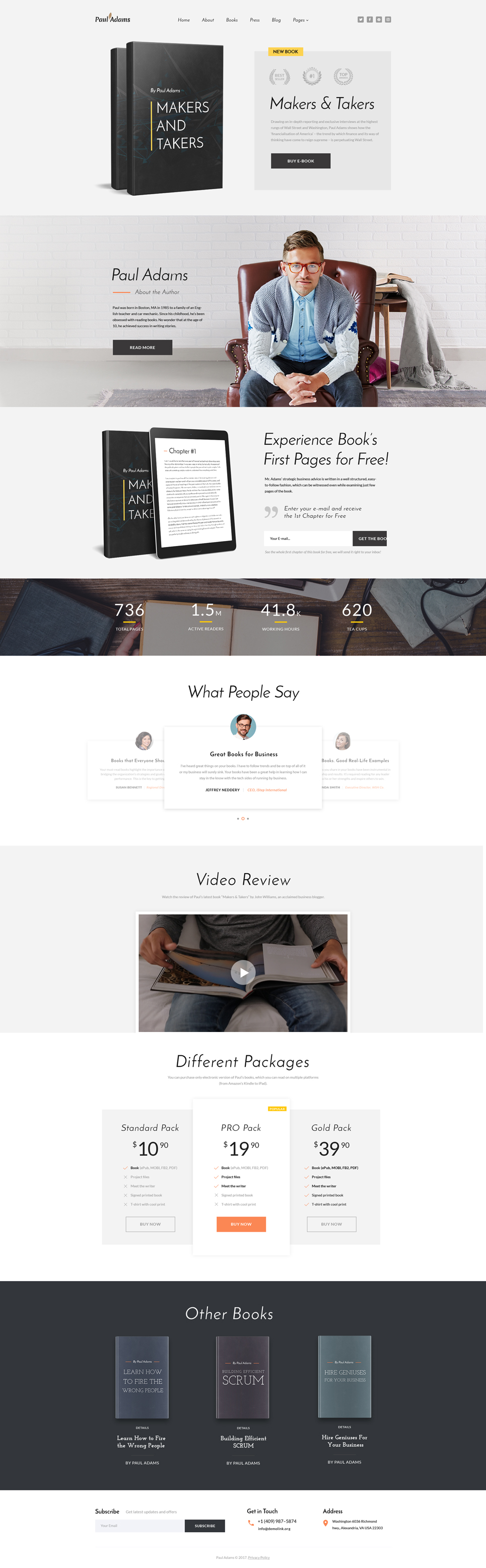 Paul Adams - Writer Multipage Creative HTML №61351